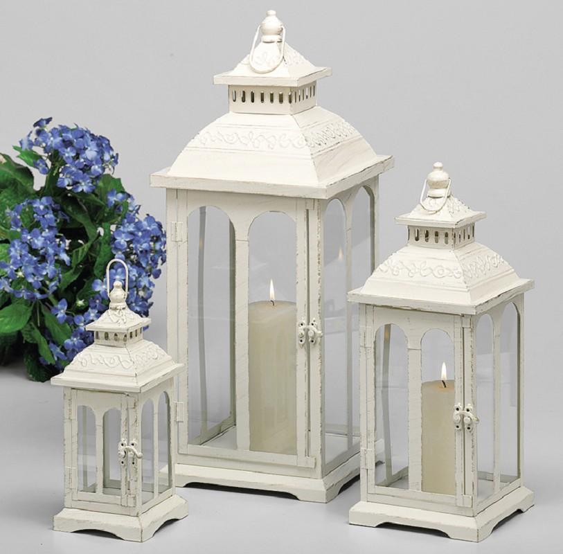 laternen set laterne 3er satz creme gold 34678 ebay. Black Bedroom Furniture Sets. Home Design Ideas
